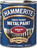 Hammerite Glatt Finish Rød 750 ml