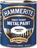 Hammerite Glatt Finish Hvit 250 ml