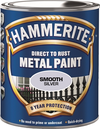 Hammerite Glatt Finish Sølv 750 ml
