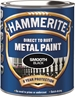 Hammerite Glatt Finish Svart 250ml