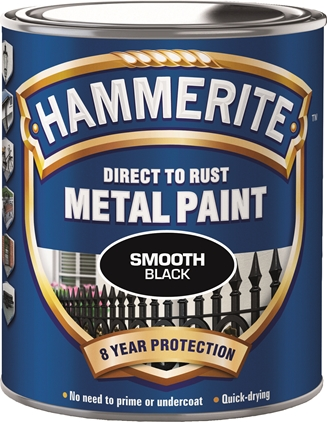 Hammerite Glatt Finish Svart 750ml